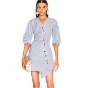 TIBI Asymmetrical shirt dress - size 8 NWT